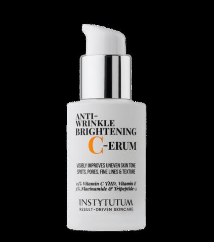 Суперконцентрированная сыворотка с витамином С Anti-wrinkle brightening C-erum, Instytutum, 30 мл.