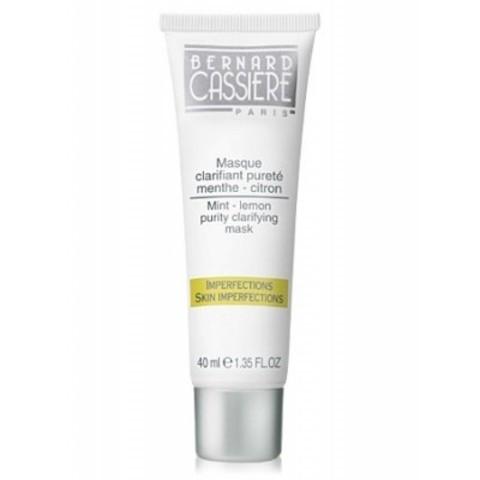 BERNARD CASSIERE линия  Лимон - Мята: Очищающая матирующая маска мята-лимон для жирных участков кожи лица, 40мл