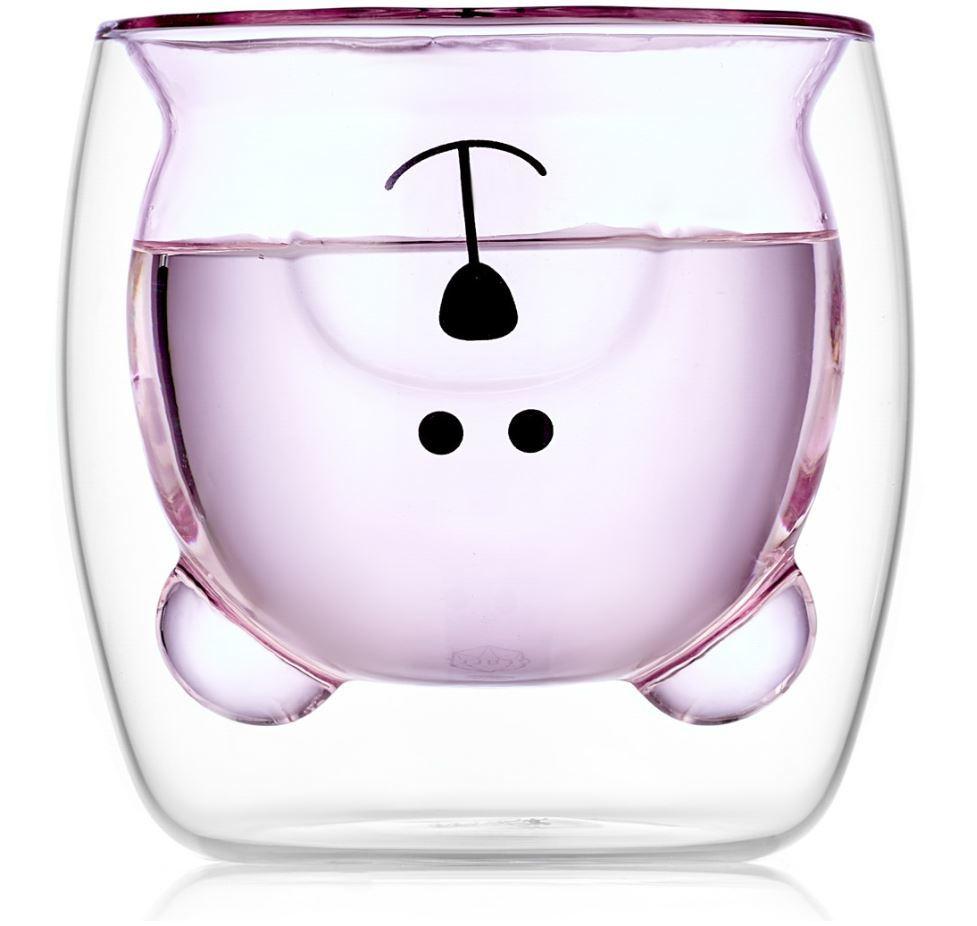 "Все товары Стакан с двойными стенками цветной в форме медведя ""Мишка, розовый 250 мл bearcup-2-026-200p-stakan-mishka-250ml-teastar.JPG"