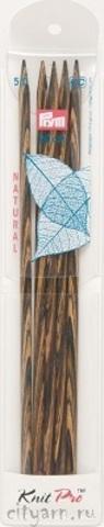 Prym Спицы чулочные разноцветные (дерево), № 6, 20 см