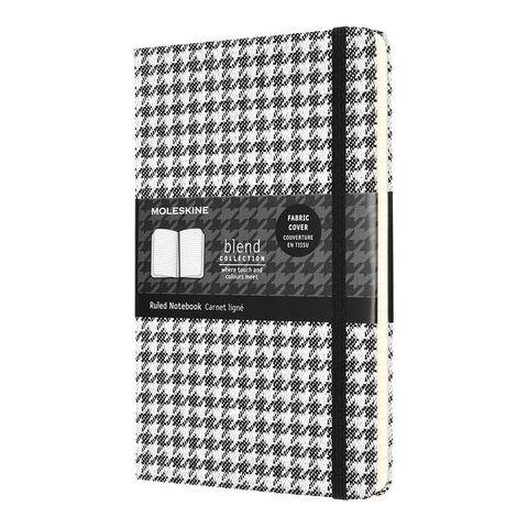 Блокнот Moleskine LE Blend (LCBD07QP060B) 130х210 мм текстиль 240 стр линейка белый/черный