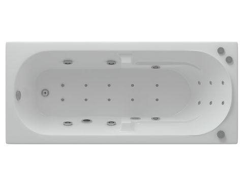 Ванна акриловая Aquatek Лея 170х75см. на каркасе с сливом-ререливом.