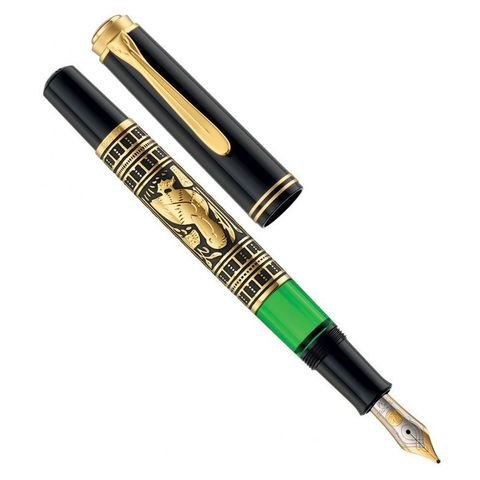 Ручка перьевая Pelikan Toledo M 700 (PL927814) черный серебро 925 пробы 11.67г F перо золото 18K с родиевым покрытием подар.кор.