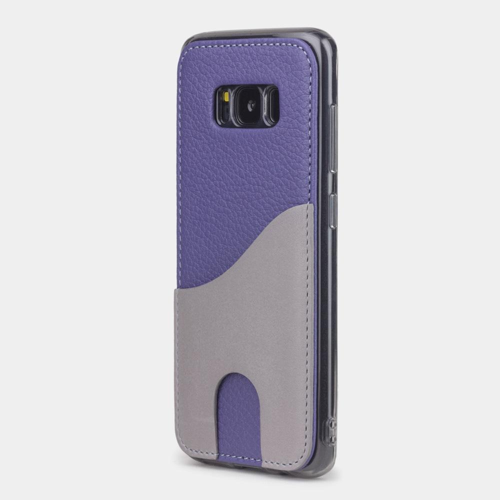 Чехол-накладка Andre для Samsung S8 Plus из натуральной кожи теленка, цвета сирени