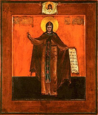 Икона святая преподобная Анфиса на дереве на левкасе мастерская Иконный Дом