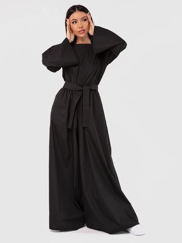 Комбинезон черный с открытой спинкой YOS