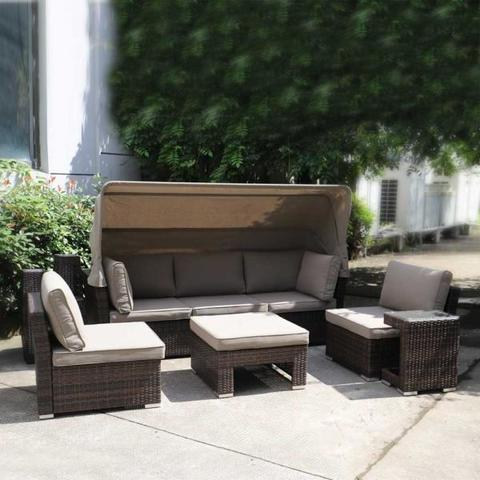 Комплект мебели из искусственного ротанга AFM-320B Brown МРК