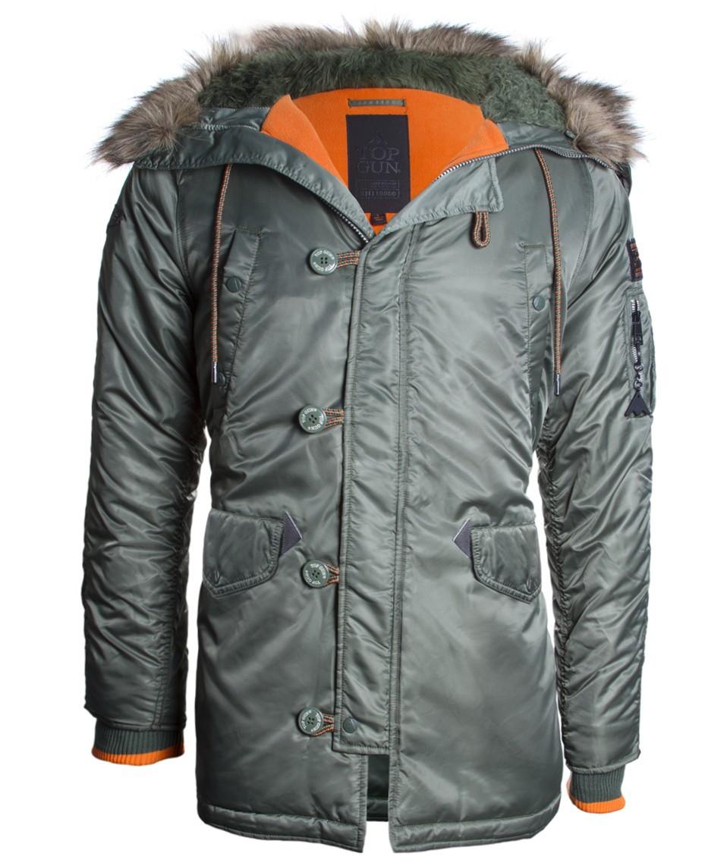 Куртка Аляска - Slim Fit N-3B Top Gun (оливковая - S.green)