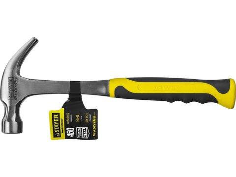 STAYER STRIKE 450 г молоток-гвоздодёр цельнометаллический столярный