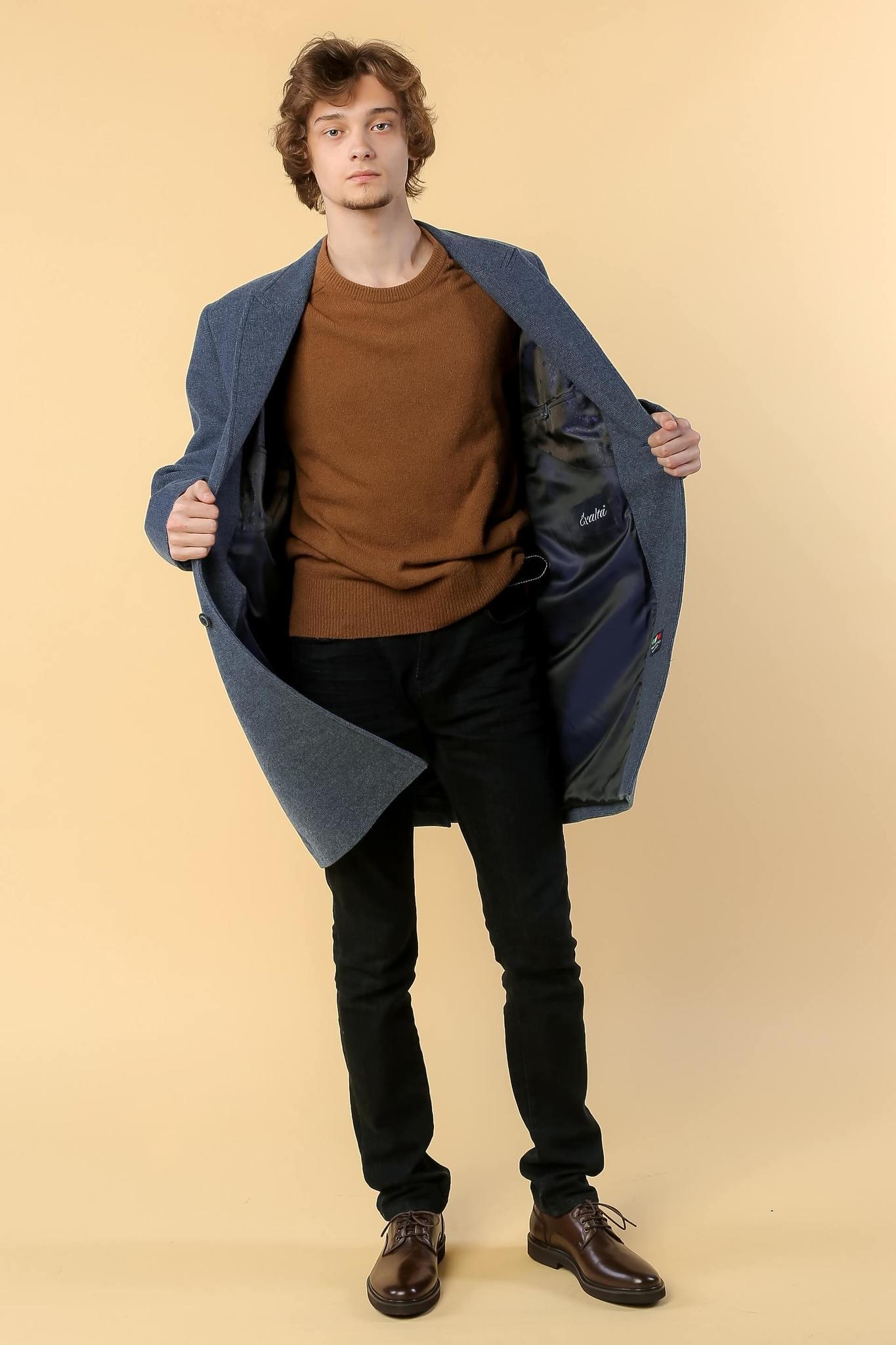 Пальто однобортное