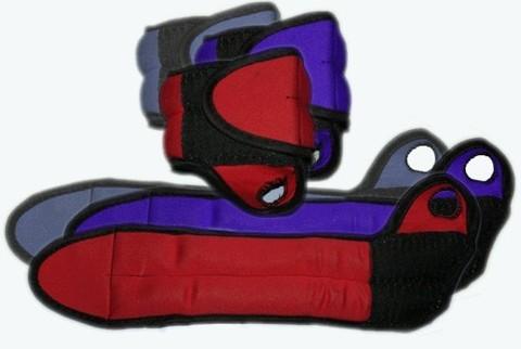 Утяжелитель для запястья рук с петлёй для фиксации на большом пальце. Вес 2х0,5 кг. :(DB16-1К,СЕ):