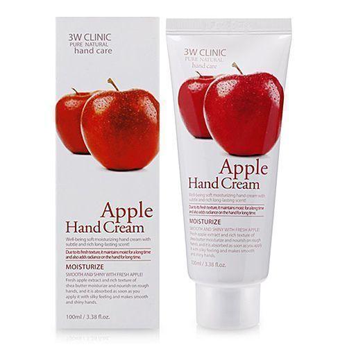 3W CLINIC Крем для рук ЯБЛОКО  3W CLINIC Apple Hand Cream 100 мл 151539.jpg