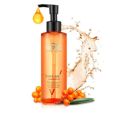Очищающее гидрофильное масло с витаминным комплексом Scinic Vita Ade Cleansing Oil 180мл