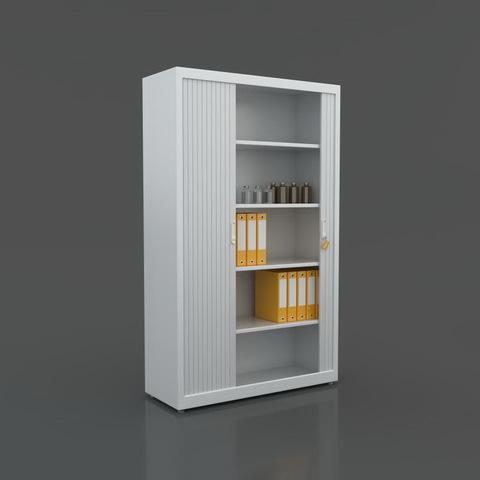 Шкаф с раздвижными ролетами (195-120-45), серый - фото