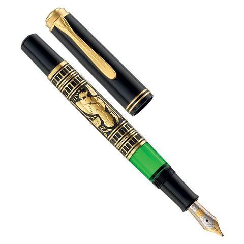Ручка перьевая Pelikan Toledo M 700 (PL927822) черный серебро 925 пробы 11.68г M перо золото 18K с родиевым покрытием подар.кор.