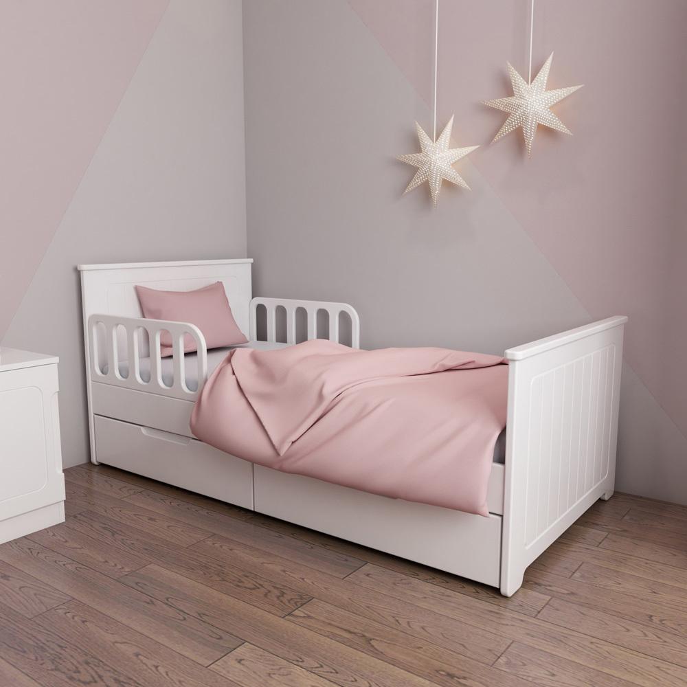 Кровать детская с ящиками Феалта-baby Лига Белая