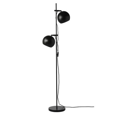 Лампа напольная Ball Double, черная матовая