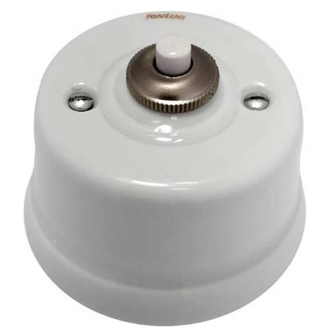 Выключатель/кнопка 10А 250В~/24В. Цвет Белый. Fontini Garby(Фонтини Гарби). 30312172
