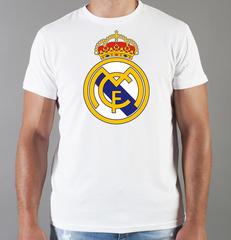 Футболка с принтом FC Real Madrid (ФК Реал Мадрид) белая 005