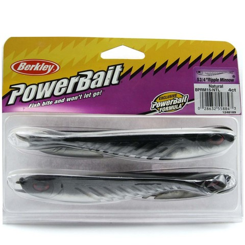 Приманка силиконовая Berkley Powerbait Ripple Minnow 15 см. - 5 3/4