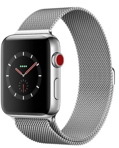 Watch S3 Cellular 38mm Silver Stainless Steel Case with Milanese Loop