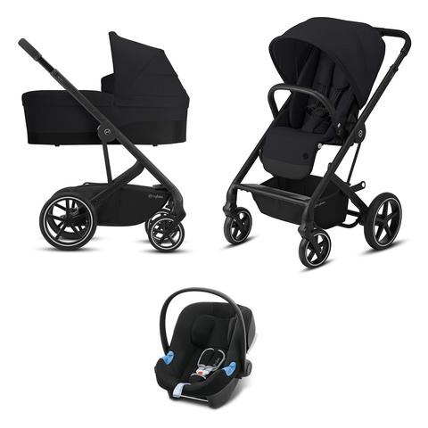 Детская коляска Cybex Balios S Lux BLK 3 в 1 Deep Black