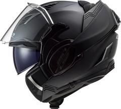 Мотошлем-модуляр LS2 FF900 Valiant II Solid, чёрный матовый