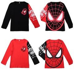 Человек паук футболка детская с длинным рукавом