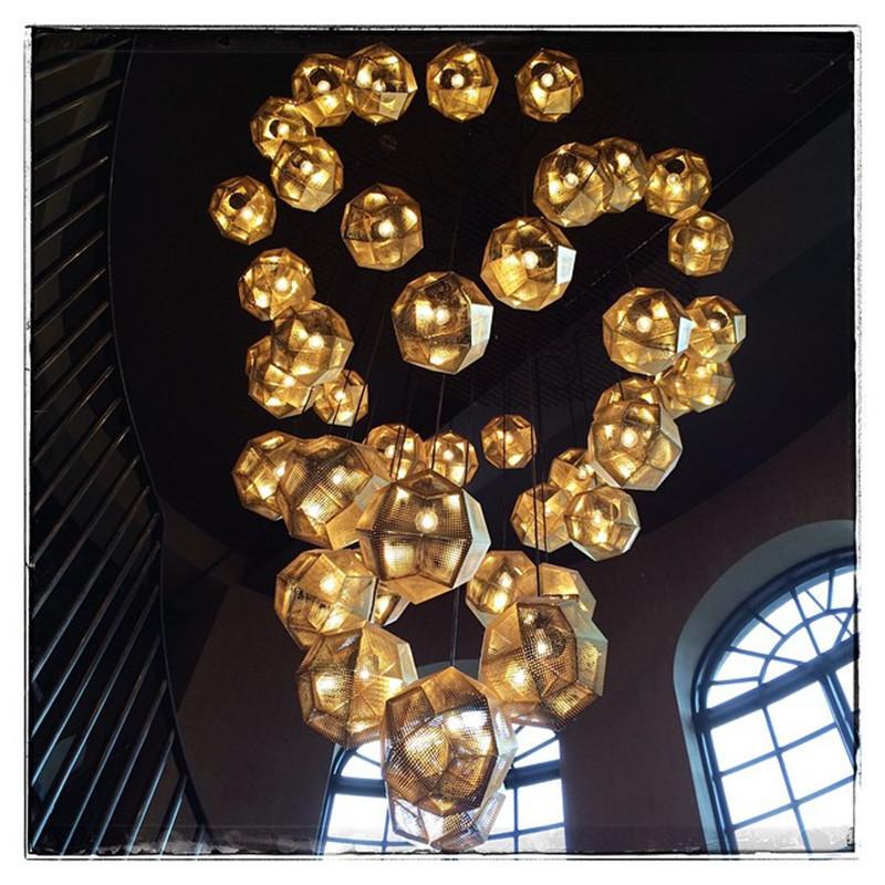Подвесной светильник копия Etch by Tom Dixon (серебряный)