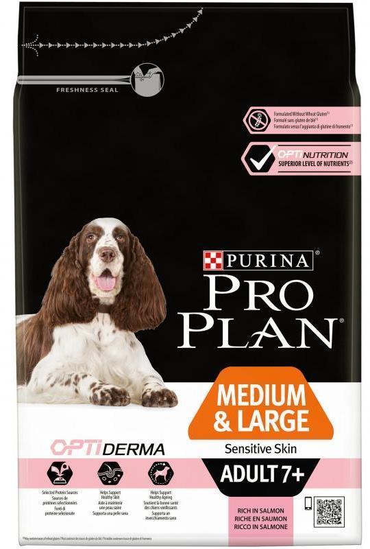 Сухой корм Сухой корм, Purina Pro Plan Dog, для взрослых собак старше 7 лет средних и крупных пород с чувствительной кожей, с лососем и рисом старше_7_лет_средних_и_крупных_пород_с_чувствительной_кожей__лосось_с_рисом.jpg