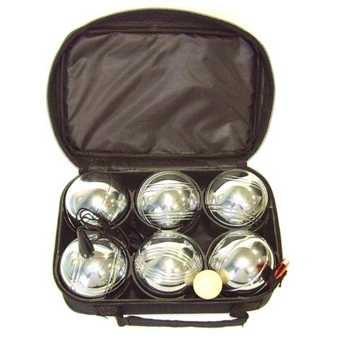 Петанк (боча) серебристый, 6 шаров