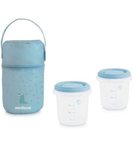 Miniland Термосумка Pack-2-Go HermiSized с двумя вакуумными контейнерами, голубая