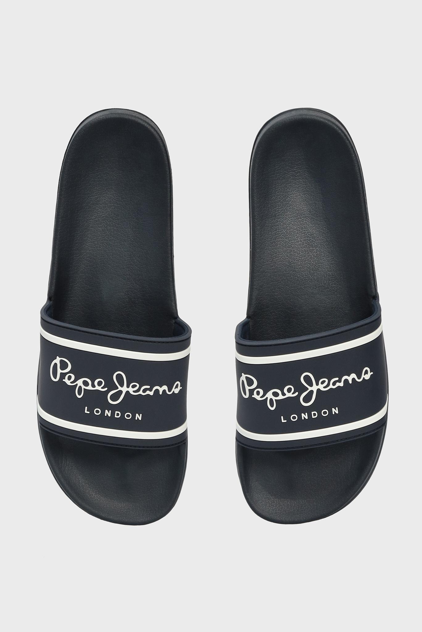 Мужские темно-синие слайдеры BASIC Pepe Jeans