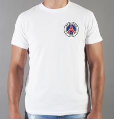 Футболка с принтом FC Paris Saint-Germain (ФК Пари Сен-Жермен) белая 008
