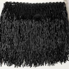 Купить бахрому из стекляруса Black черную в интернет-магазине