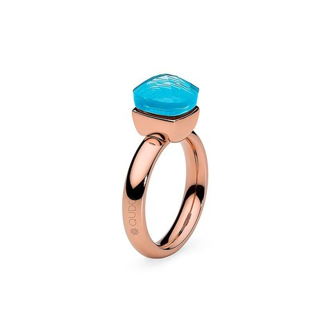 Кольцо Firenze dark aquamarine 17.2 мм 610909/17.2 BL/RG
