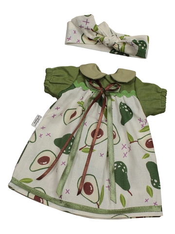 Платье с воротничком - . Одежда для кукол, пупсов и мягких игрушек.