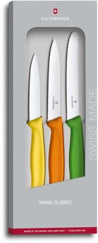 Кухонный набор Victorinox из 3-х разноцветных ножей для резки и чистки (6.7116.31G)