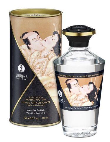 Массажное интимное масло с ароматом ванили - 100 мл.