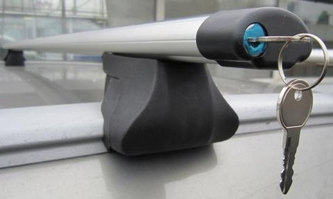 Багажник Интер Интегра с аэродинамической поперечиной с замком 130 см.