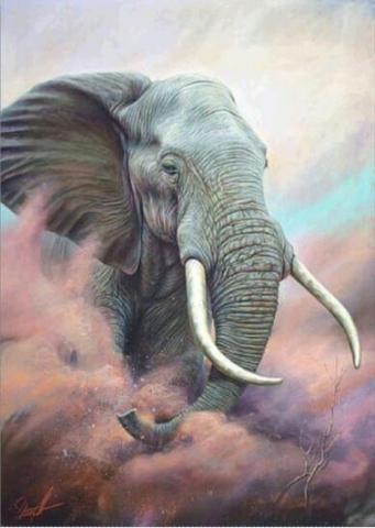 Алмазная Мозаика 40x50 Слон в песке (арт. 2PAV725)