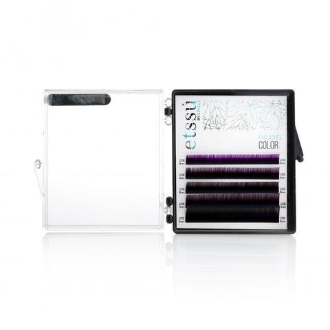 Ресницы Etssu Color Ombre Violet 5 линий MIX