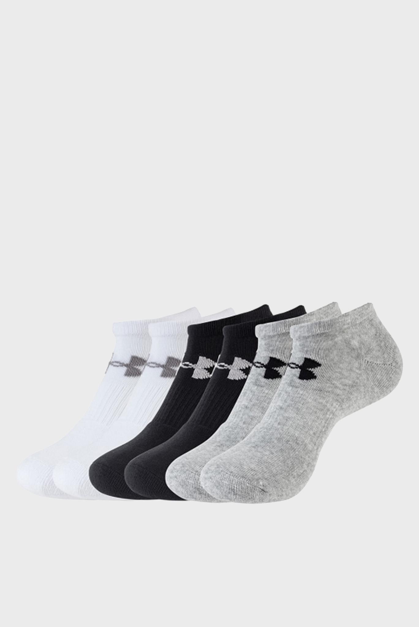 Мужские хлопковые носки (6 пар) CHARGED COTTON 2.0 NOSHOW Under Armour