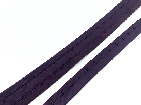 Крючки на ленте двухрядные слива (цв. 076)