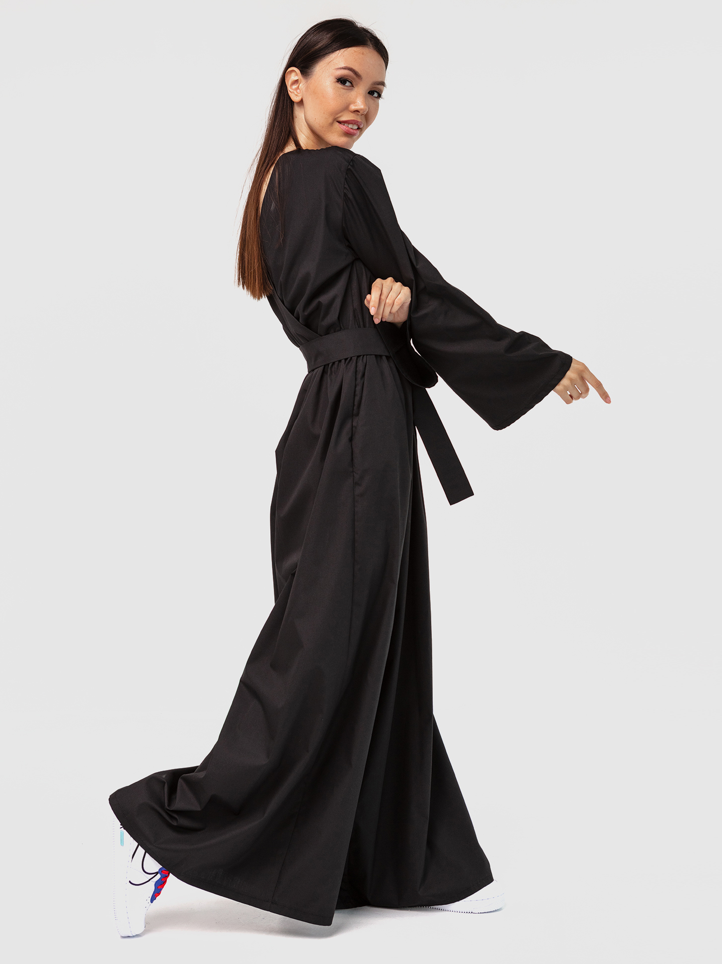 Комбинезон черный с открытой спинкой YOS от украинского бренда Your Own Style