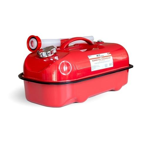 Канистра топливная металлическая горизонтальная AVS HJM-10, 10л, красная