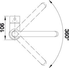 Смеситель Blanco Mida (хром) схема