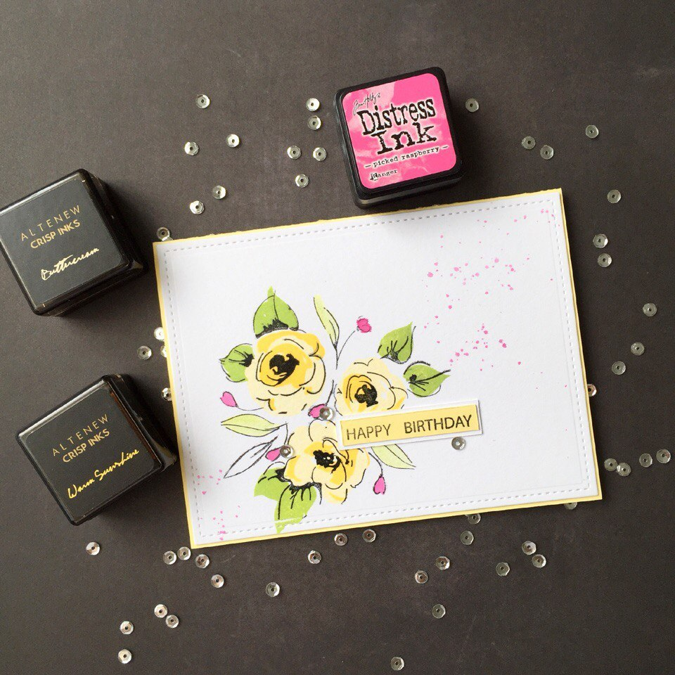 Набор штампов и НОЖЕЙ  Painted Flowers