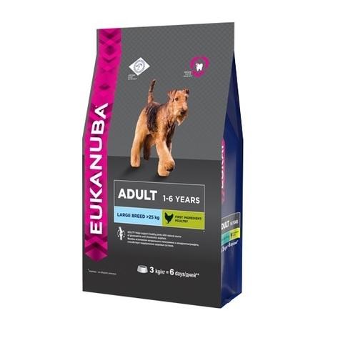 18 кг. EUKANUBA Сухой корм для взрослых собак крупных пород Adult Large Breed