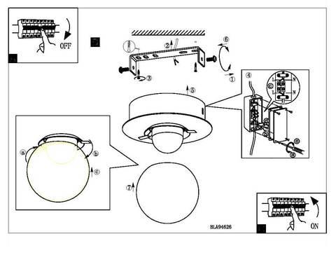 Светильник настенно-потолочный влагозащищенный Eglo MOSIANO 94626 4